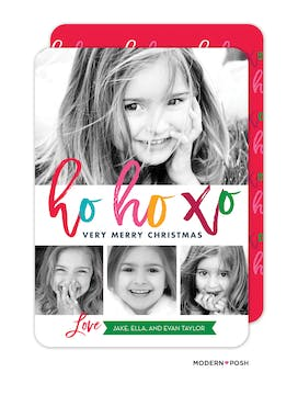 ho ho xo Holiday Photo Card