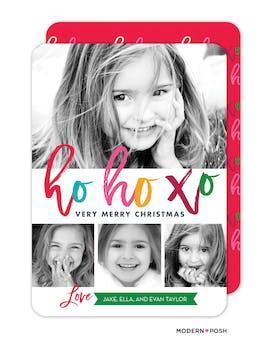 ho ho xo Holiday Photo Card