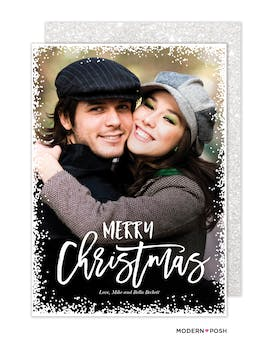 Christmas Snow Love Holiday Photo Card