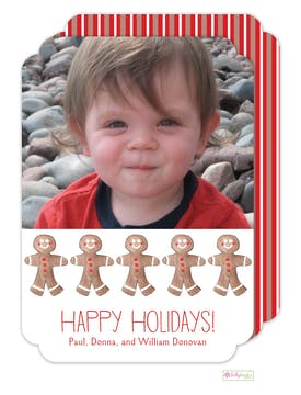 Gingerbread Men Holiday Photo Card