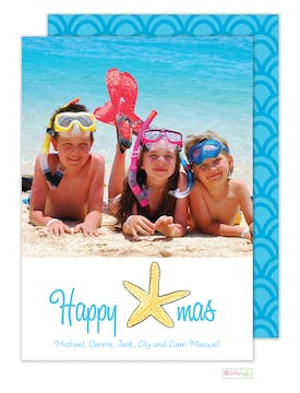 Starfish Christmas Holiday Photo Card