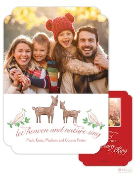 Heaven and Nature Sing Holiday Photo Card