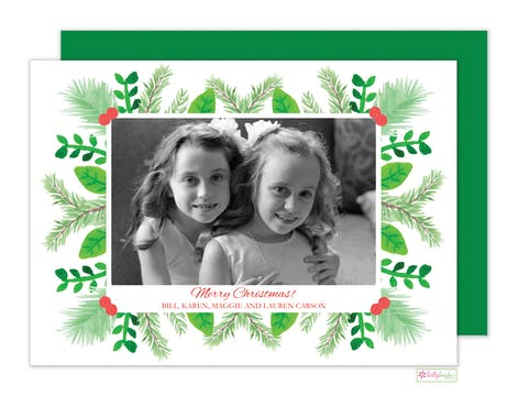 Christmas Greens Holiday Photo Card