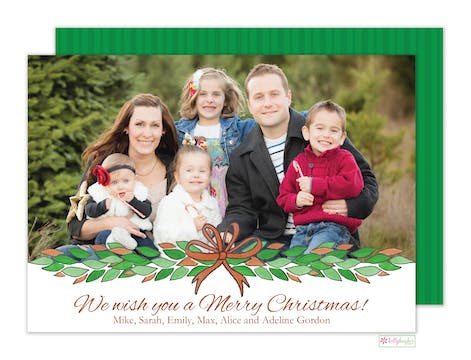 Magnolia Swag Holiday Photo Card