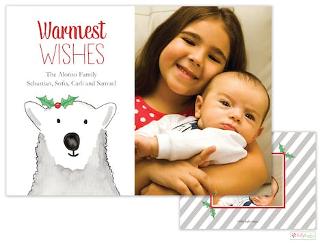 Polar Bear Wishes Holiday Photo Card