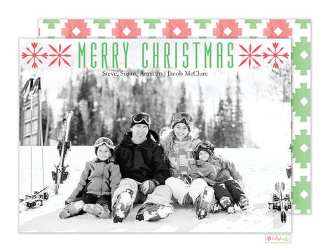 Nordic Christmas Holiday Photo Card
