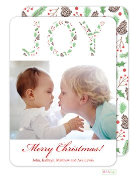 Winter Holiday Photo Card