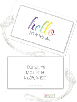 Hello Rainbow ID Tag