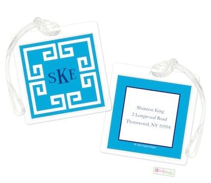Framed Key Blue ID Tag