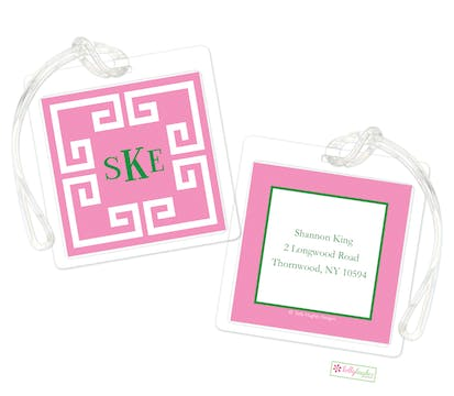 Framed Key Pink ID Tag