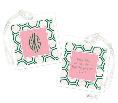 Pink Honeycomb ID Tag