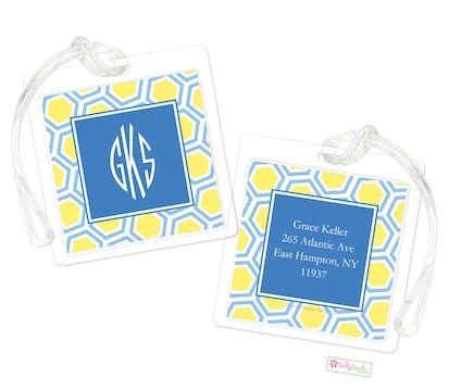 Blue Honeycomb ID Tag