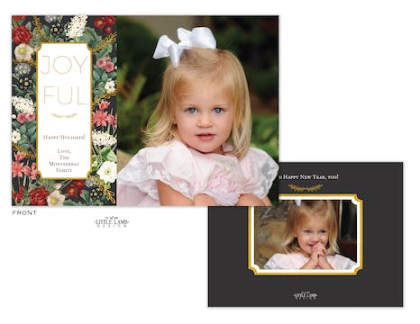 Floral Flat Holiday Photo Card