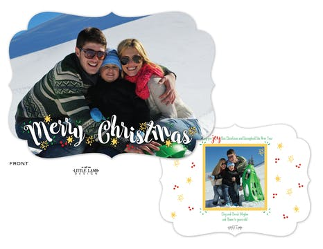 Fun Merry Christmas Flat Holiday Photo Card