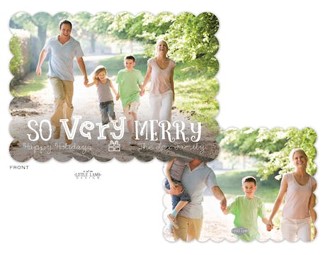 So Very Merry Flat Holiday Photo Card