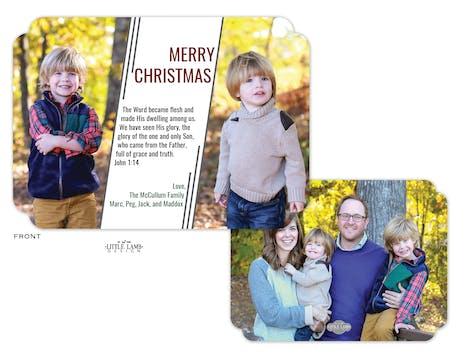 Mod Flat Holiday Photo Card