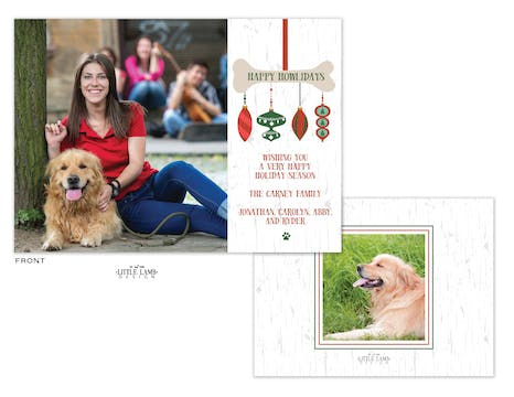 Happy Howlidays Flat Holiday Photo Card