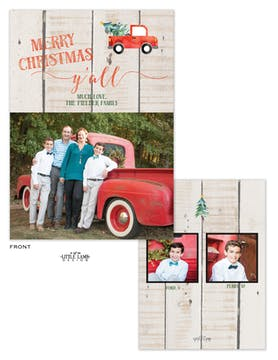 Merry Christmas Y'all Flat Holiday Photo Card