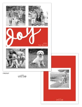 Joy Flat Holiday Photo Card