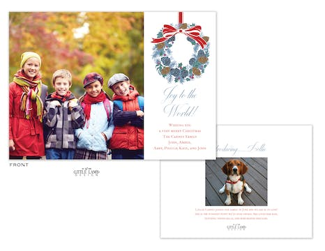 Wreath Flat Holiday Photo Card