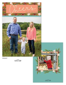 Cheers Flat Holiday Photo Card