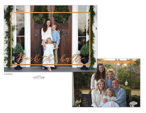 Deck The Halls Flat Holiday Photo Card