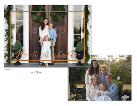 Deck The Halls Foil Pressed Holiday Photo Card