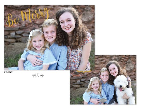 Be Merry Foil Pressed Holiday Photo Card