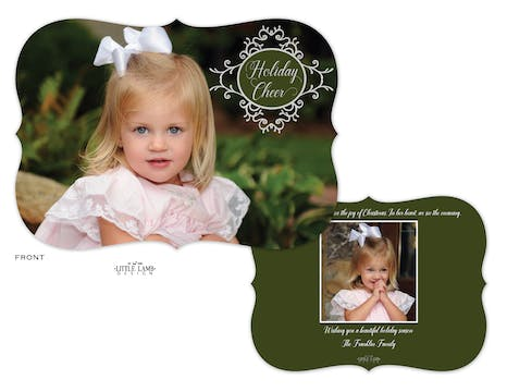 Holiday Cheer Foil Pressed Frame Holiday Photo Card