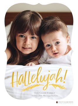 Hallelujah Foil Pressed Holiday Photo Card