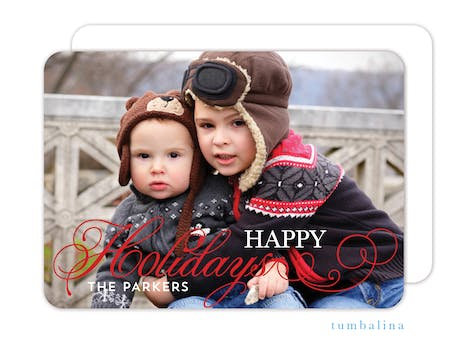 Holiday Flourish Foil Pressed Holiday Photo Card