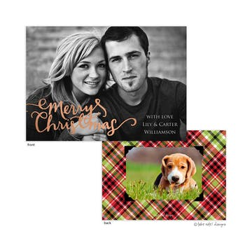 Christmas Spirit Foil Pressed Holiday Photo Card