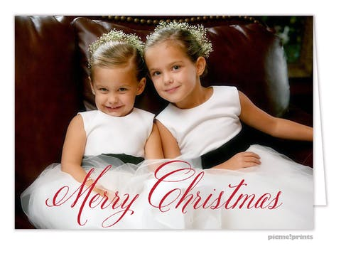 Fancy Christmas Holiday Photo Card