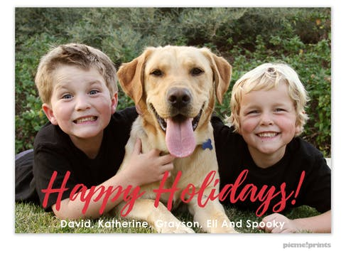 Big Happy Holidays! Holiday Photo Card
