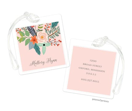 Feather & Flower Blossom ID Tag