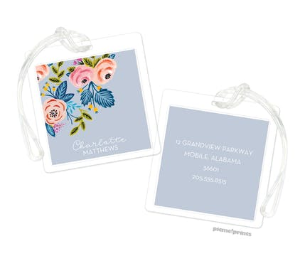 Rose of Spring Slate ID Tag