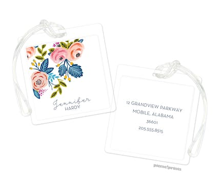 Rose of Spring White ID Tag