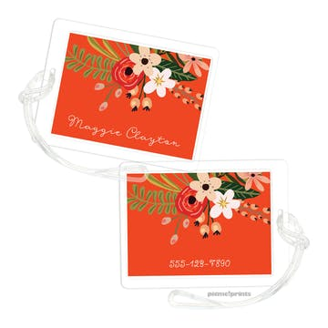Botanical Fiesta ID Tag