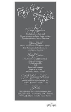Grey Calligraphic Names Menu