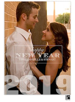 Bold New Year Flat Photo Card