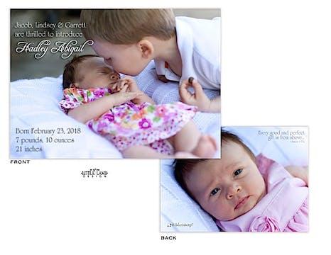 Full Girl Photo Birth Announcement