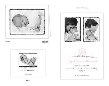 Girl Photo Birth Announcement
