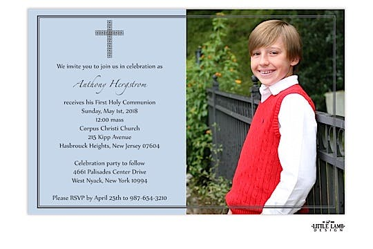 First communion or baptism invitation