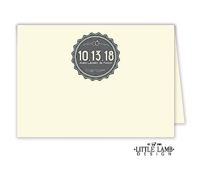 Deco Badge Placecard