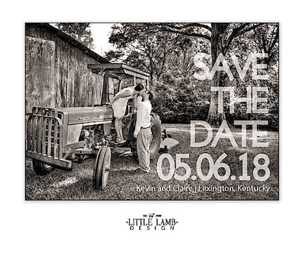 Bold Letter Love Photo Save The Date Magnet