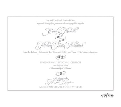 Blissful Script Invitation