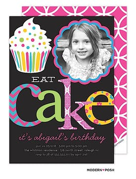 Let's Eat Cake Photo Invitation
