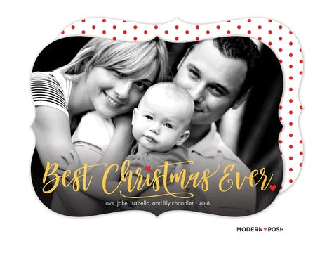 Best Christmas Ever Foil Pressed Holiday Photo Card