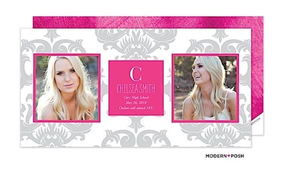 Brocade Grad Photo Card