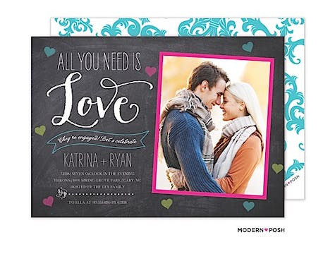 All You Need Is Love Photo Save The Date Card